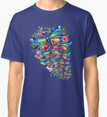 Tropical Dragonfly Flower Garden Classic T-Shirt