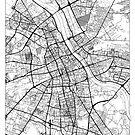 Warszawa Map Minimal by HubertRoguski