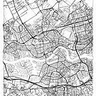 Rotterdam Map Minimal by HubertRoguski