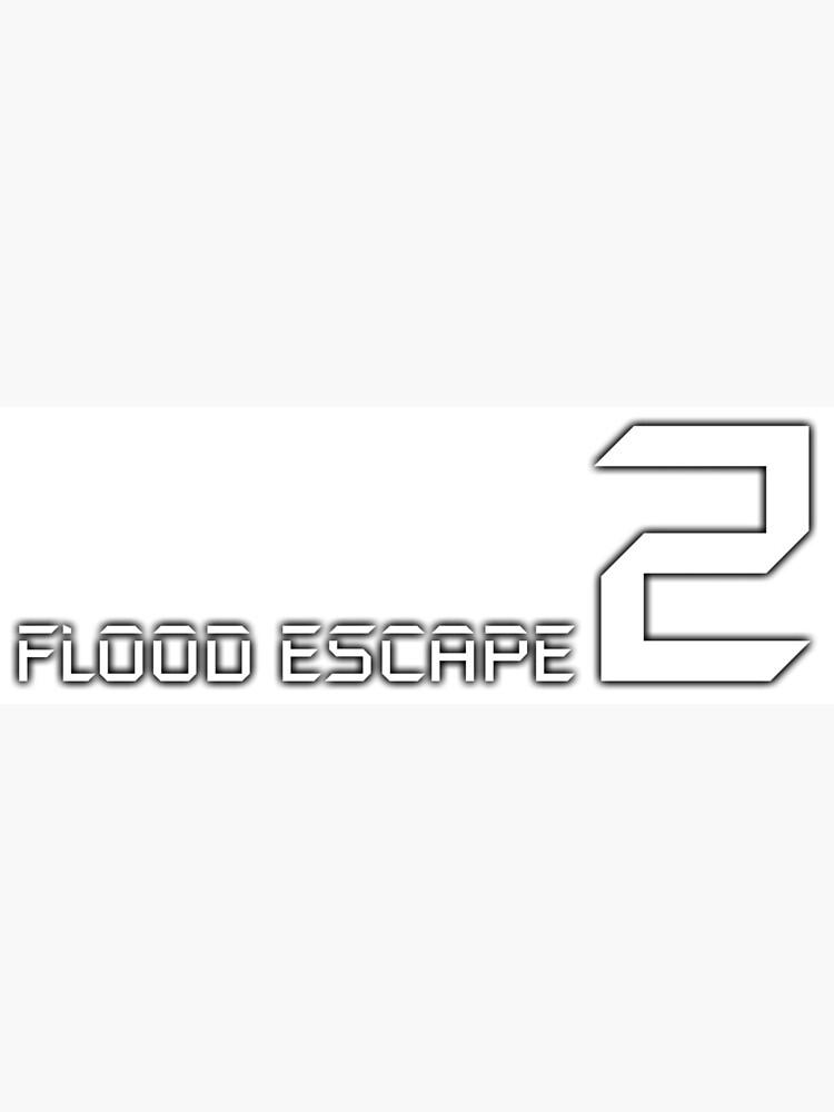 Flood Escape 2 Logo Greeting Card By Crazyblox Redbubble