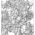 Kuala Lumpur Map Minimal by HubertRoguski