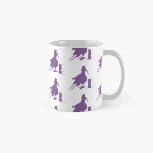 Purple barrel racing horse female rider Classic Mug