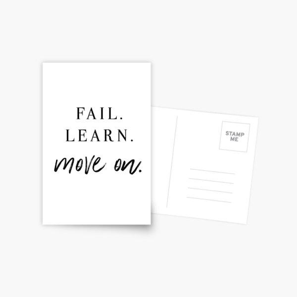 Fail. Learn. Move On. Postcard