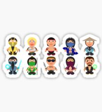 Mortal Kombat Fan Art Icons Sticker