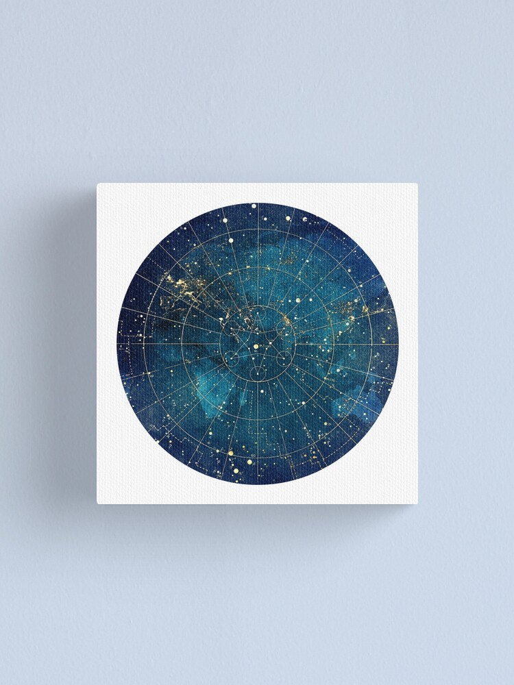 Alternate view of Star Map :: City Lights Canvas Print