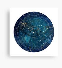 Sternenkarte :: Stadtlichter Leinwanddruck