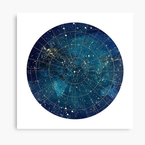 vu de l'espace. Une forme géométrique sacrée en forme d'étoile se trouve au centre Impression sur toile