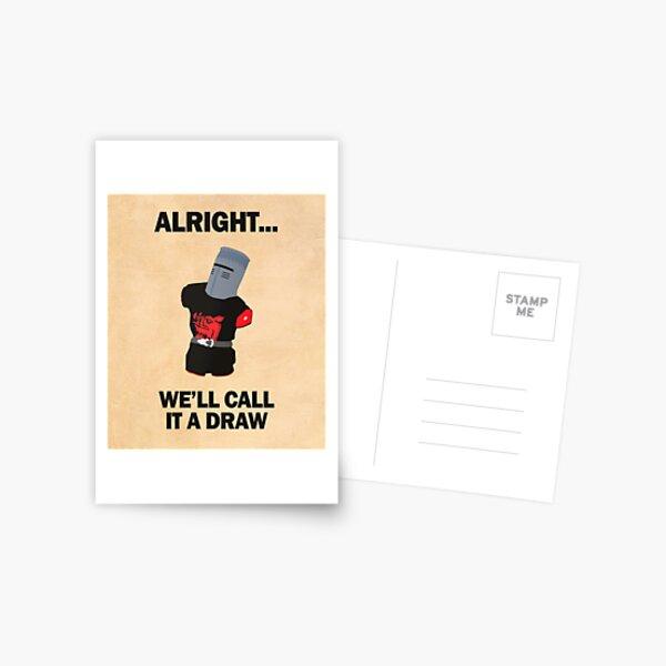 Black Knight - we'll call it a draw! Postcard