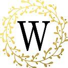Monogramm-Buchstabe W | Personalisiert | Aquarell Design von PraiseQuotes