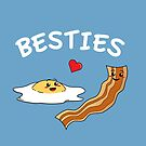 Cartoon Eggs and Bacon Breakfast Best Friends by Lindsay McCart