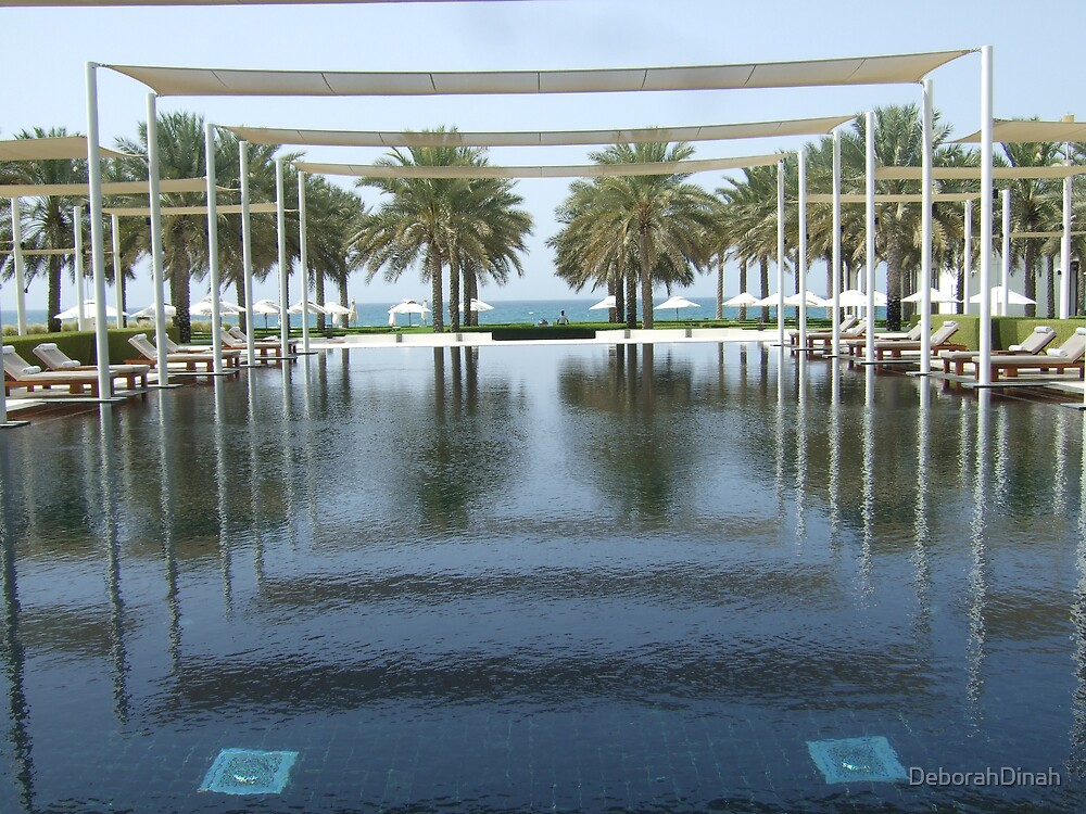 The Pool at the Chedi Muscat Oman by DeborahDinah