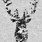 Rustic Big Buck - Frolicking Deer, Gray Camo by LoveOfDictums