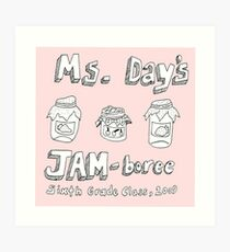 Ms Day's JAM-boree Art Print