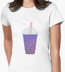 bubble tea Women's Fitted T-Shirt