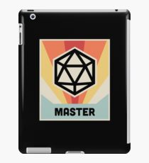 MASTER | Vintage D20 Roleplaying Game Poster iPad Case/Skin