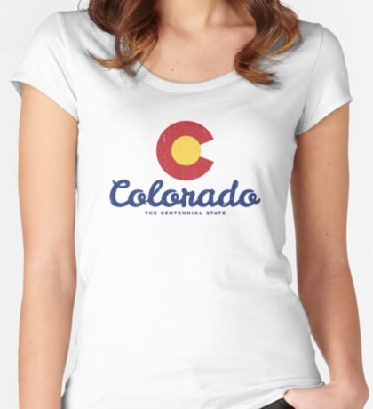 Colorado Badge Vintage Fitted Scoop T-Shirt