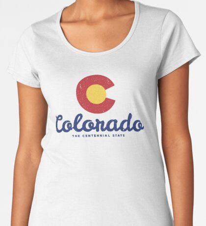 Colorado Badge Vintage Premium Scoop T-Shirt