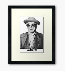 Frankly, Mr. Wright Framed Print