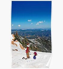 Calvin an Hobbes in Mountain Holiday Poster
