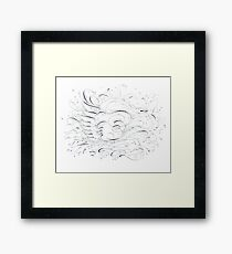 Swan and Ink Framed Print