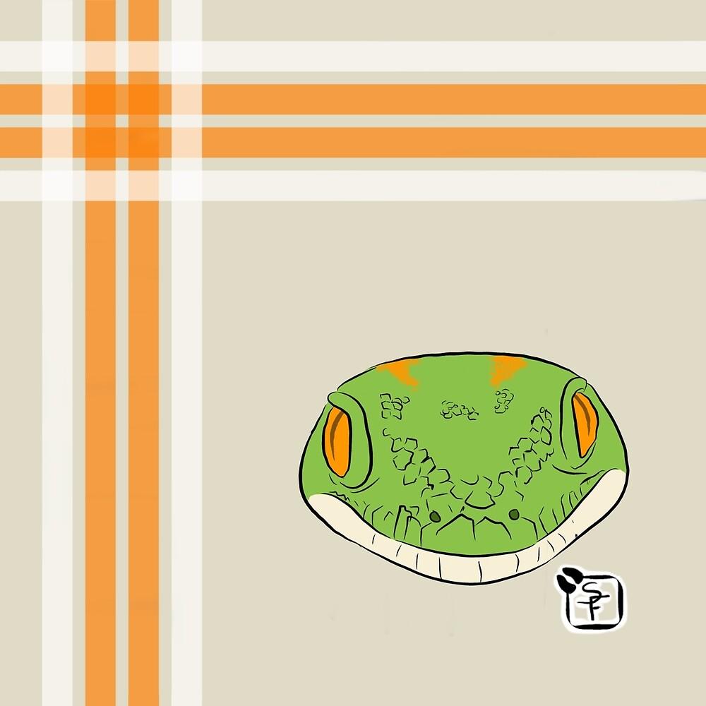 Green Gecko Plaid by SonneFaunArt