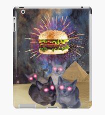 Hamburger Worship Funny Food & Kitty Cat T-Shirt iPad Case/Skin