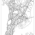 Mumbai Map Minimal by HubertRoguski