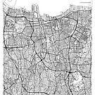 Jakarta Karte Minimal von HubertRoguski