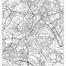 Stuttgart Karte Minimal von HubertRoguski