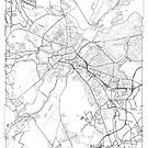 Potsdamer Karte Minimal von HubertRoguski
