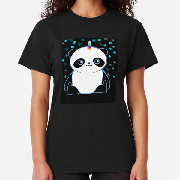 Cute Pandacorn in the Snow  Classic T-Shirt