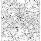 Dresden Karte Minimal von HubertRoguski