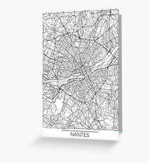Nantes Map Minimal Greeting Card