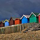Beach Hut Series 10 by Amanda White