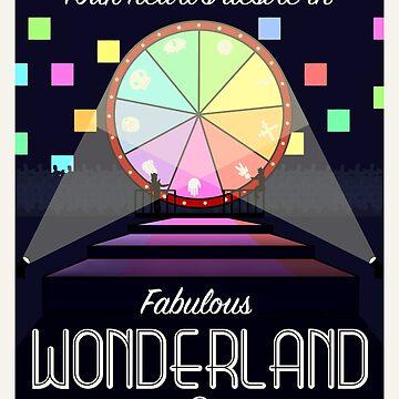 Wonderland Travel Poster by atlasbeetles