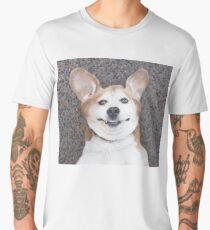 Goofy beagle dog smiling Men's Premium T-Shirt