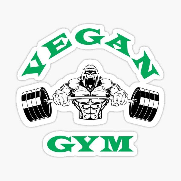Vegan Gym Bodybuilding Plant Based Lifestyle Sticker