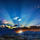 Sunrise over Butte, Montana by Jerry Walter