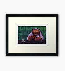 Everyday I'm Beartending Framed Print