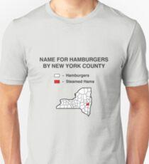 Gedämpfte Schinken - State County Karte Slim Fit T-Shirt