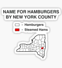 Steamed Hams - State County Map Sticker