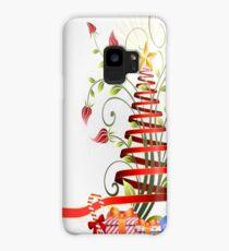 Holiday Christmas Tree Ribbon Case/Skin for Samsung Galaxy