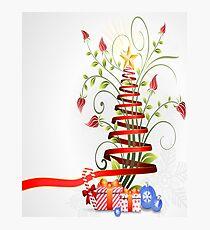Holiday Christmas Tree Ribbon Photographic Print
