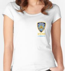 peralta badge Women's Fitted Scoop T-Shirt