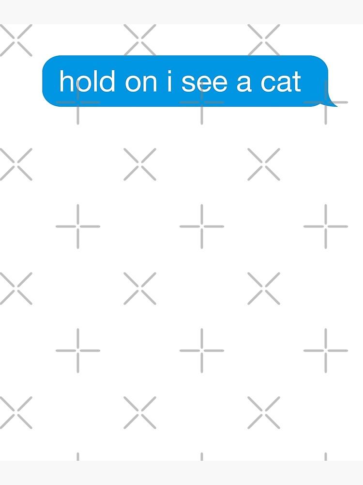 divertido agarre veo un gato mensaje de texto etiqueta de iMessage de IntrepiShirts