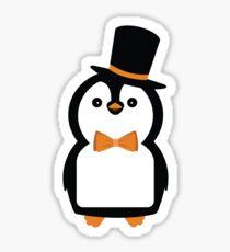 Dapper Penguin Lad Sticker