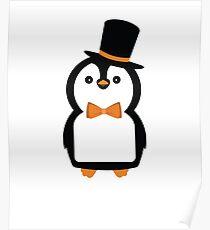 Dapper Penguin Lad Poster