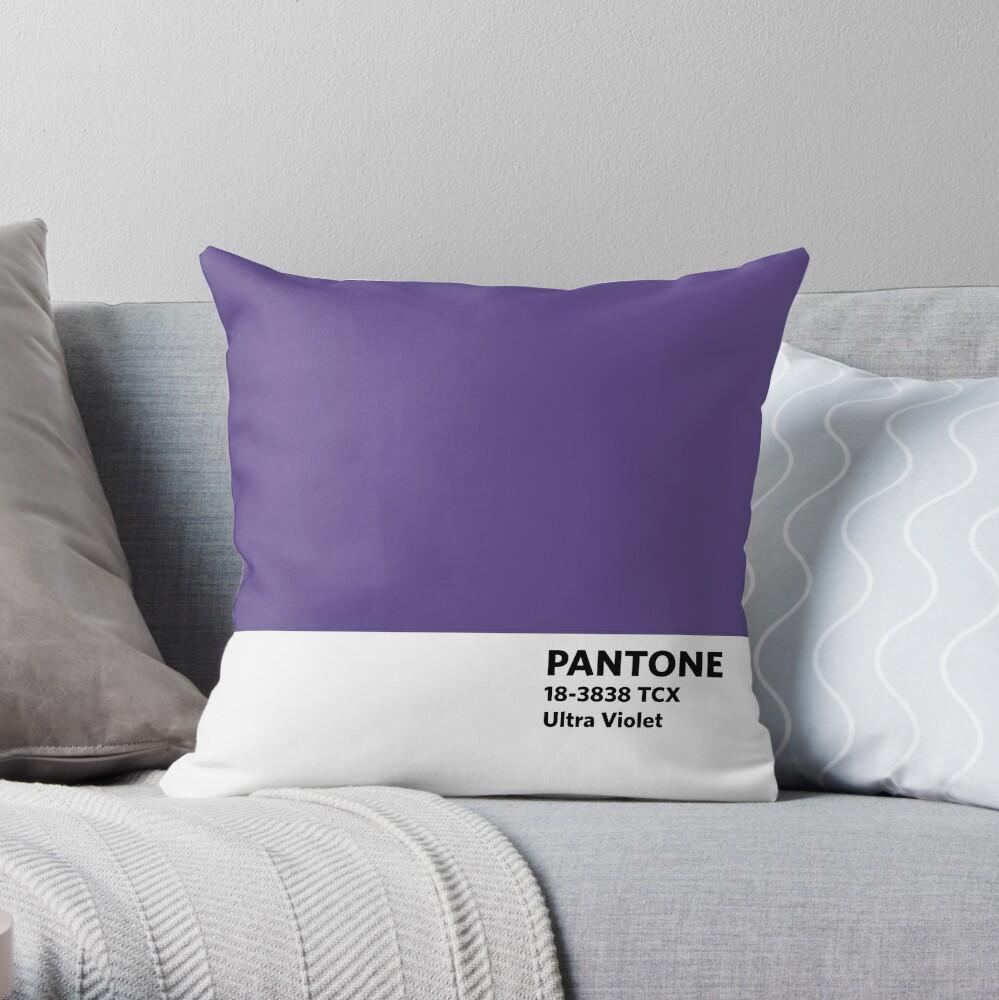 2018 Pantone Farbe des Jahres - Ultra Violett Dekokissen