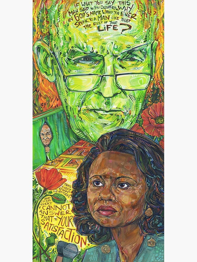 Because of the [horrible] things [the patriarchy] does! Anita Hill painting - 2017 by gwennpaints