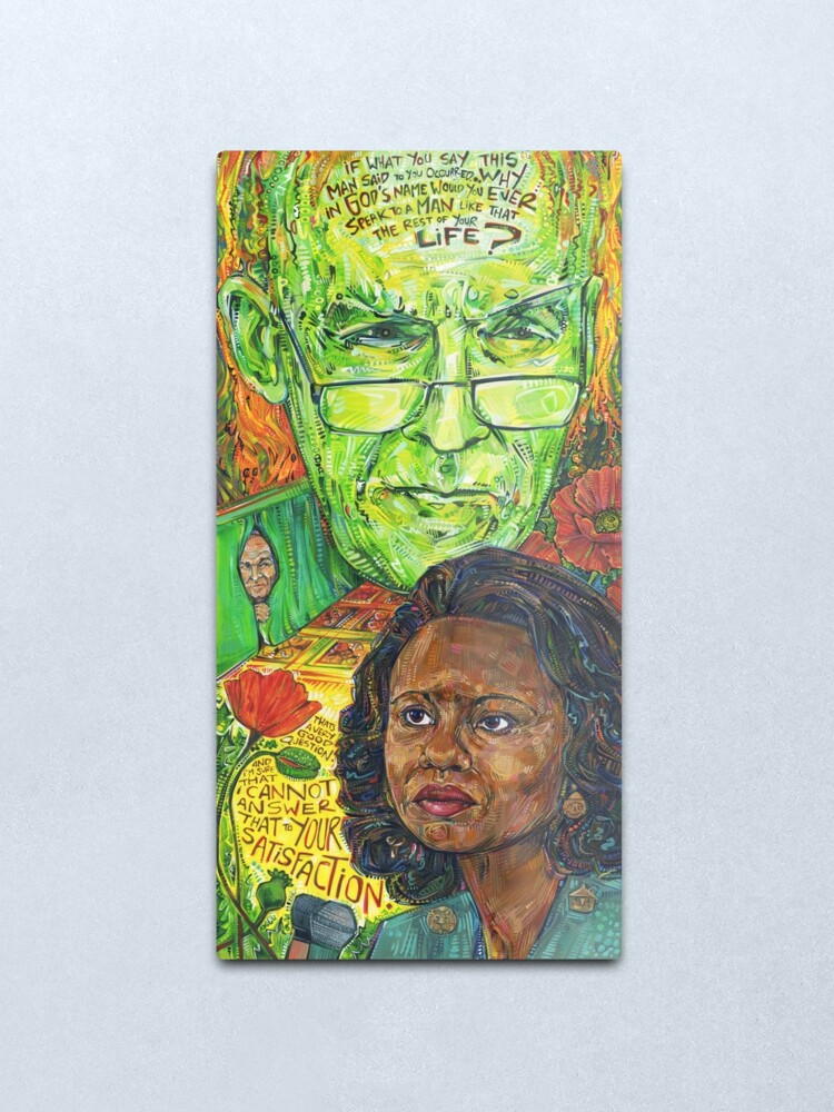 Alternate view of Because of the [horrible] things [the patriarchy] does! Anita Hill painting - 2017 Metal Print